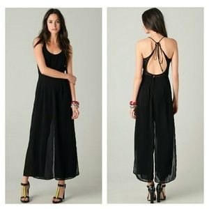 Opening Ceremony Pants - Opening Ceremony Chiffon Wide Legged Jumpsuit