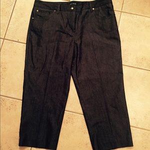 Larry Levine Pants - Larry Levine Gray Capris Carreer Size 14