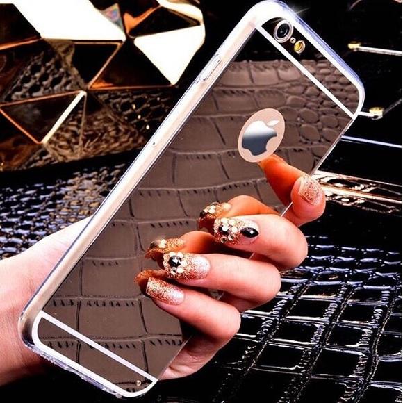 mirror iphone 7 plus case. accessories - rose gold hot new iphone 7+ plus case mirror 5.5\ mirror iphone 7 plus case