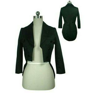 Hot Topic Jackets & Blazers - Black Tailcoat Tuxedo Style Jacket Dancer Costume