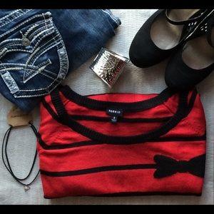 torrid Sweaters - 🔴 Sale [Plus: 2X] HP Torrid - Black Bow Sweater