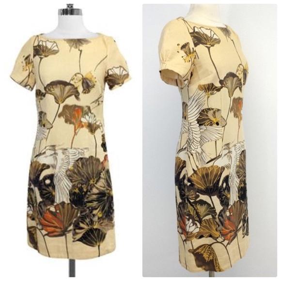3c9ac62cfc641 Anthropologie Dresses & Skirts - Anthropologie FLOREAT SNOWY EGRET Shift  Dress