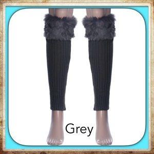 Accessories - 1 Pair Fur Stretch Leg Warmers Boot Cuffs Adult