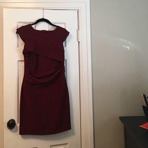 Topshop burgundy dress size 6