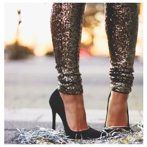 ✨HOT SELLER✨Bronze sequin skinny pants