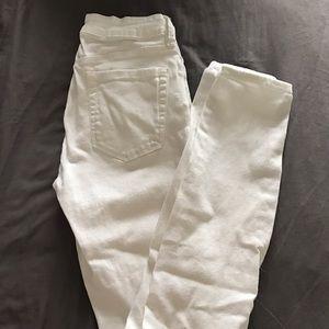 Bullhead Denim - BULLHEAD / distressed white skinny jeans