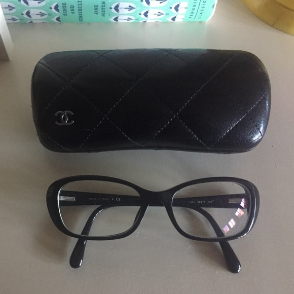 ca480debf1d CHANEL Accessories - CHANEL black eyeglasses w  mother of pearl CCs.
