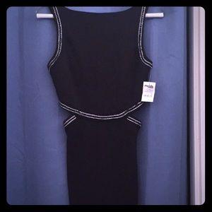 Black cut out dress