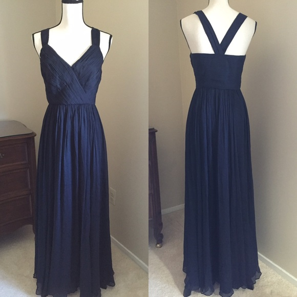 85% off J. Crew Dresses & Skirts - Gorgeous J Crew Navy Blue formal gown 0 (fit 2) from ! 🍍~~di ...