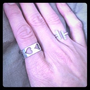 Jewelry - Sterling silver band with hearts cut out