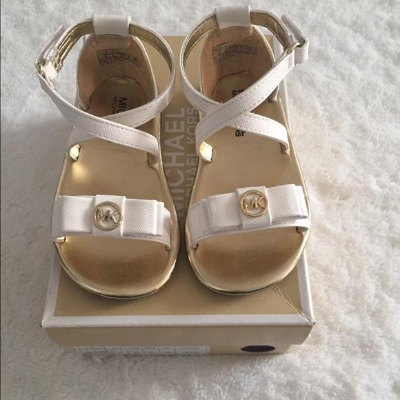 dd6c533a6107 Toddler Michael Kors White Sandals. M 5825f8a47f0a0552c306c775