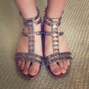 Sam Edelman Berkeley Pewter Gladiator Sandal