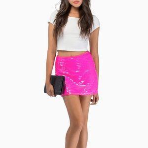 Tobi sequins mini skirt
