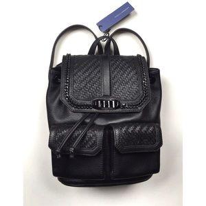 Rebecca Minkoff Handbags - Rebecca Minkoff Woven Love Leather Backpack NWT
