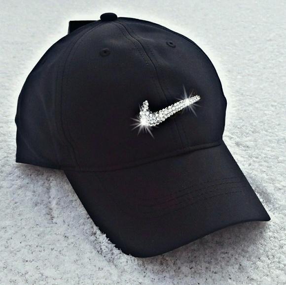 5410024729b0e Swarovski Crystal Bling Nike Swoosh Golf Cap NWT