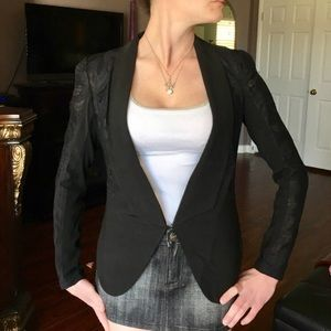 Gracia Jackets & Blazers - Gracia Black Blazer with Lace