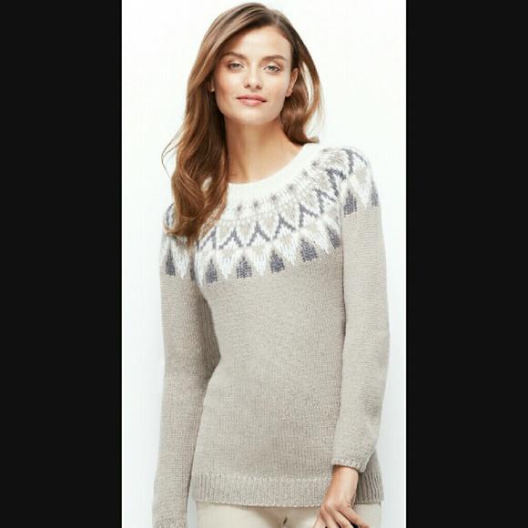 72% off Ann Taylor Sweaters - Ann Taylor fair isle tunic sweater ...