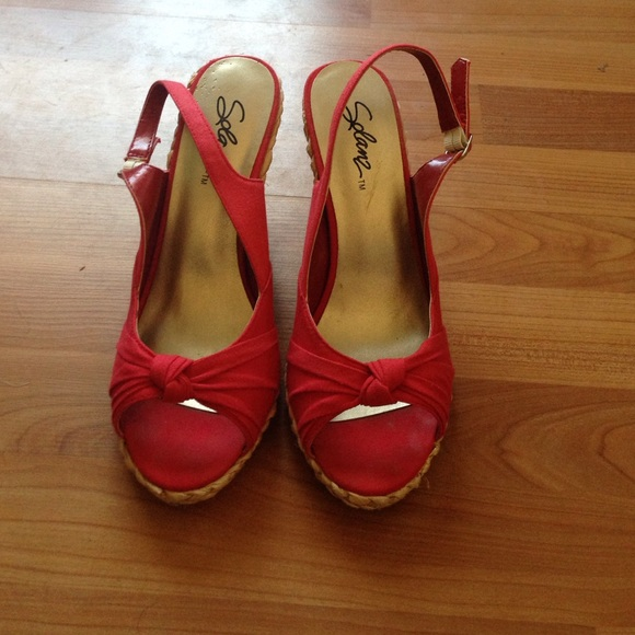Red wedge heels 7.5 from Haili's closet on Poshmark