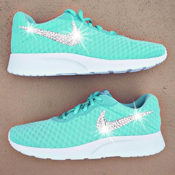 f5a4d953fedc Swarovski Crystal Bling Nike Tanjun - Tiffany Blue