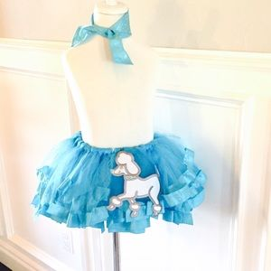 Other - Turquoise Poodle Skirt & Neck Tie