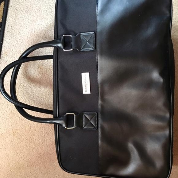 a6efde63 Ermenegildo Zegna Black Handled Overnight Bag