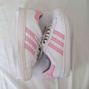 7563fdc775a5 ... Pink striped adidas superstar