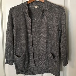 J. Crew Sweaters - J. Crew metallic cardigan sweater