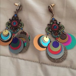 Jewelry - ❤️Colorful blingy earrings. BOGO