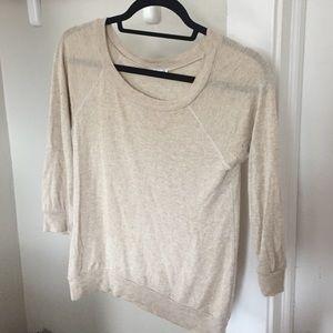 Splendid Tan pullover crewneck sweater (size S)
