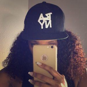 Public School Accessories - Black Apple New York SnapBack Hat by Public School
