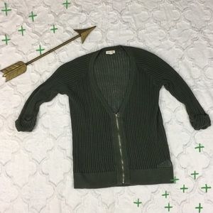 Urban Outfitters Silence + Noise Zip Front Sweater