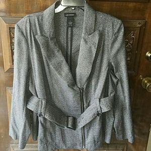 Lane Bryant Jackets & Blazers - Stylish Zipper Belted Jacket
