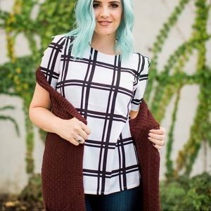 Tops - Grid Pattern Top