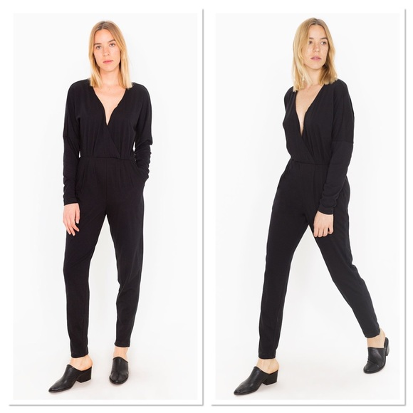 e24cfb25b611 NWT American Apparel Madeline Jumpsuit Black