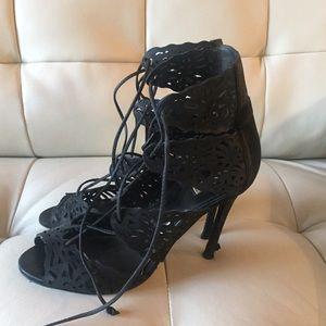 SCHUTZ Shoes - Schutz Ciara Nubuck Cutout-Panel Sandal