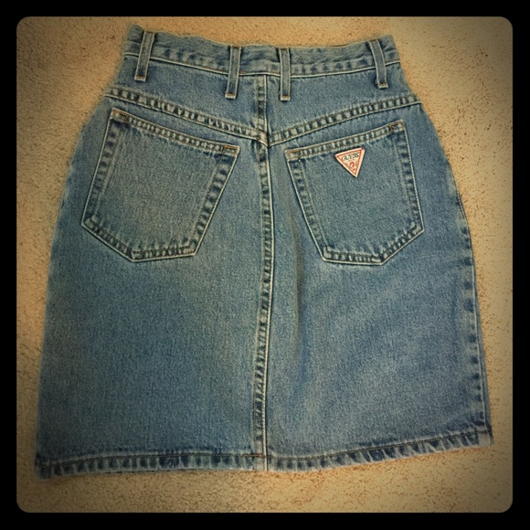 luxury fashion best shoes great fit VINTAGE GUESS JEANS HIGH WAISTED JEAN SKIRT