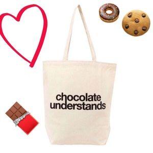SALE✨ Dogeared Canvas Chocolate Understands Tote