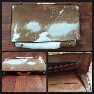 Artmex Handbags - Vintage Artmex 1950s Pony Fur & Leather Clutch