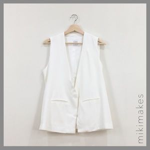 Sincerely Jules Jackets & Blazers - SINCERELY JULES • white Kate vest