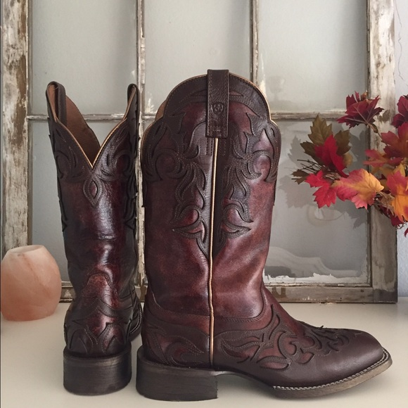 56% off Ariat Shoes - Ariat Cassidy Wingtip Cowgirl Boots- Square ...