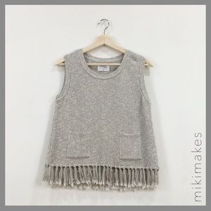 Sincerely Jules Sweaters - SINCERELY JULES • Tulum knit tank with fringe