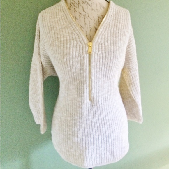 65% off ABS Allen Schwartz Sweaters - Cozy ABS beige marled cotton ...