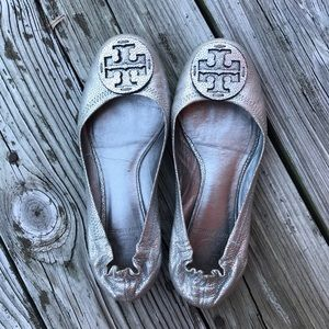 Tory Burch Pebbled Leather Reva Ballet Flats
