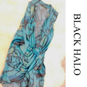 Black Halo Dresses & Skirts - Black Halo 100% Silk Draped Dress - Sample