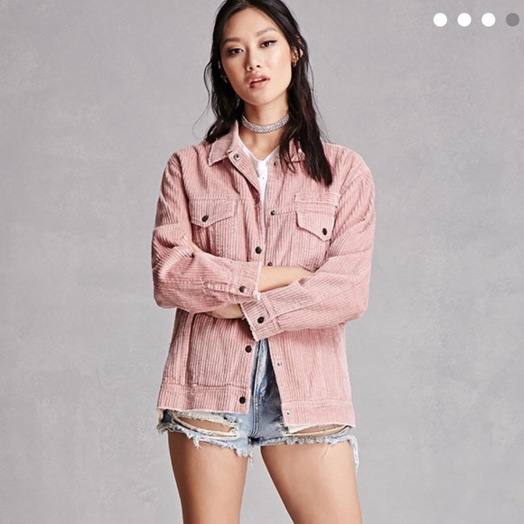 Brandy Melville - Used dusty pink corduroy oversized jacket from ...