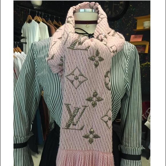 a670ff958f67 Louis Vuitton Accessories   Rose Logomania Shine Scarf   Poshmark