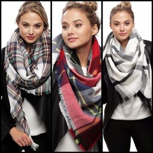 Accessories - Oversized Blanket Scarf in 3 Colors