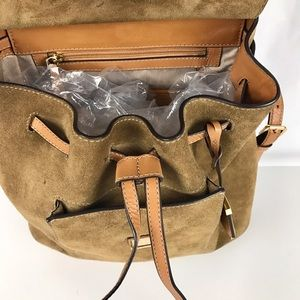4ff62eb903cb ... Michael Kors Bags - Michael Kors Romy Medium Suede Leather Backpack ...