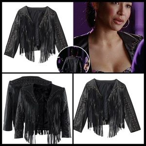 H&M Jackets & Blazers - ➕GLEE CELEBRITY WORN➕Leather Fringe Moto Jacket