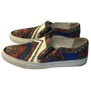 Givenchy silk paisley slip on sneakers 39